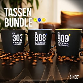 909 & 808 & 303 – Tassen Bundle