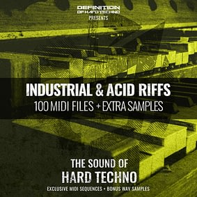 INDUSTRIAL & ACID RIFFS MIDI PACK + WAV SAMPLES