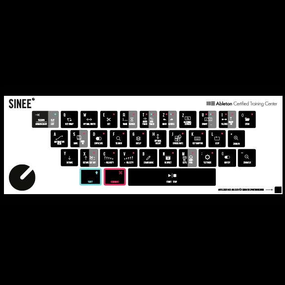 Ableton Tastaturaufkleber